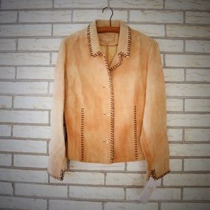 Scully Whip Stitched Leather Western Jacket New M